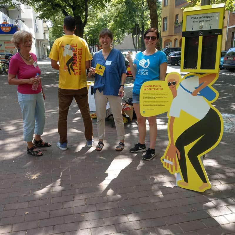 Am Leon-Jessel-Platz hatten wir im August eine große Verteilaktion.