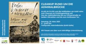 AIF Informationen zum Cleanup an der Admiralbrücke