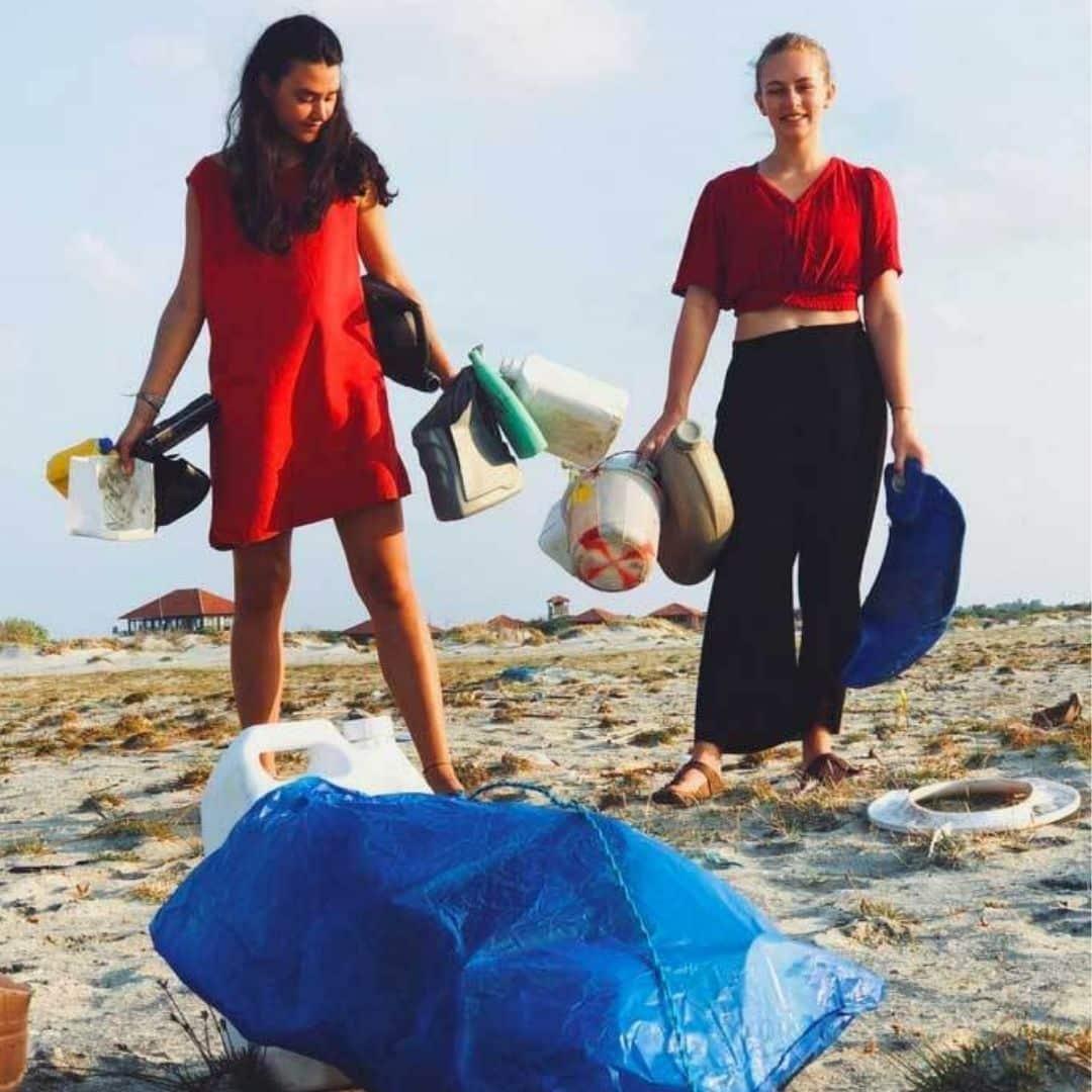Merijaan beim Strand Cleanup