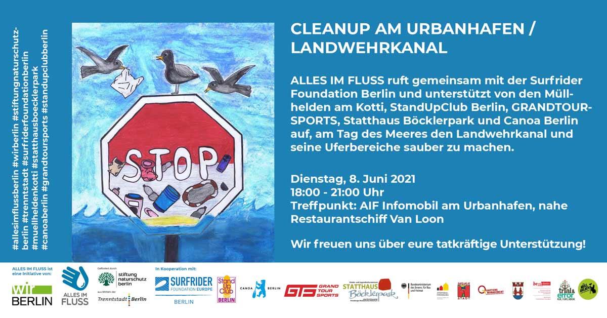 AIF Cleanup Urbanhafen Tag des Meeres