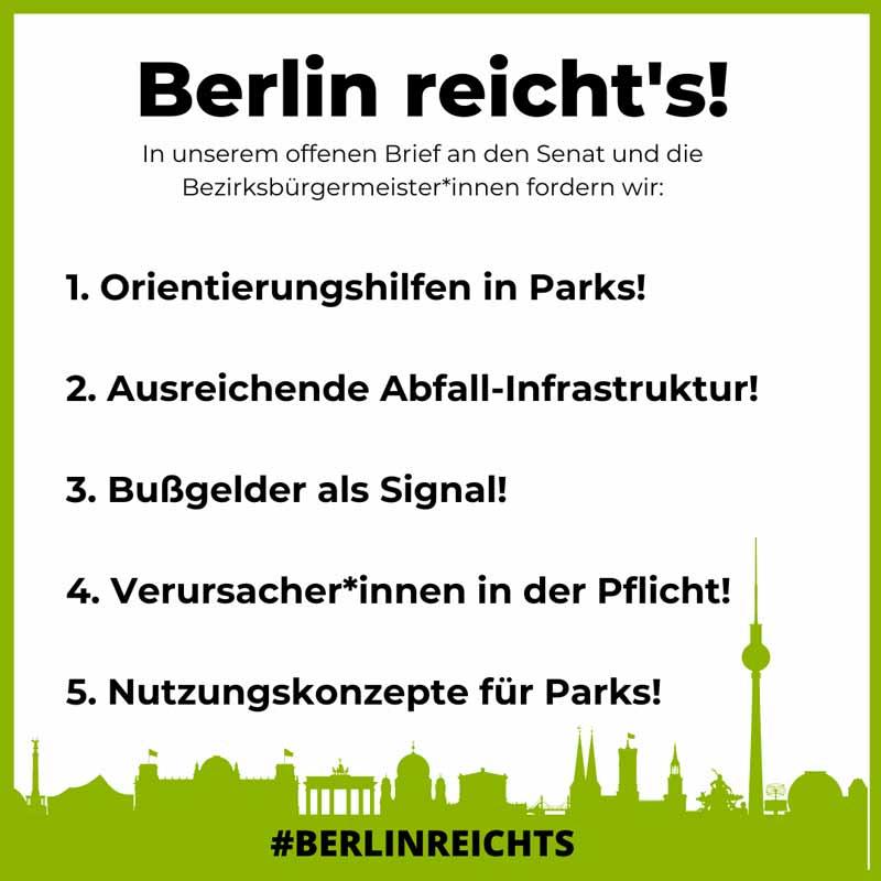 Offener Brief - Berlin reicht's!