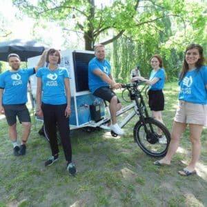Einsatz des Infomobiles beim Cleanup im Volkspark Humboldthain